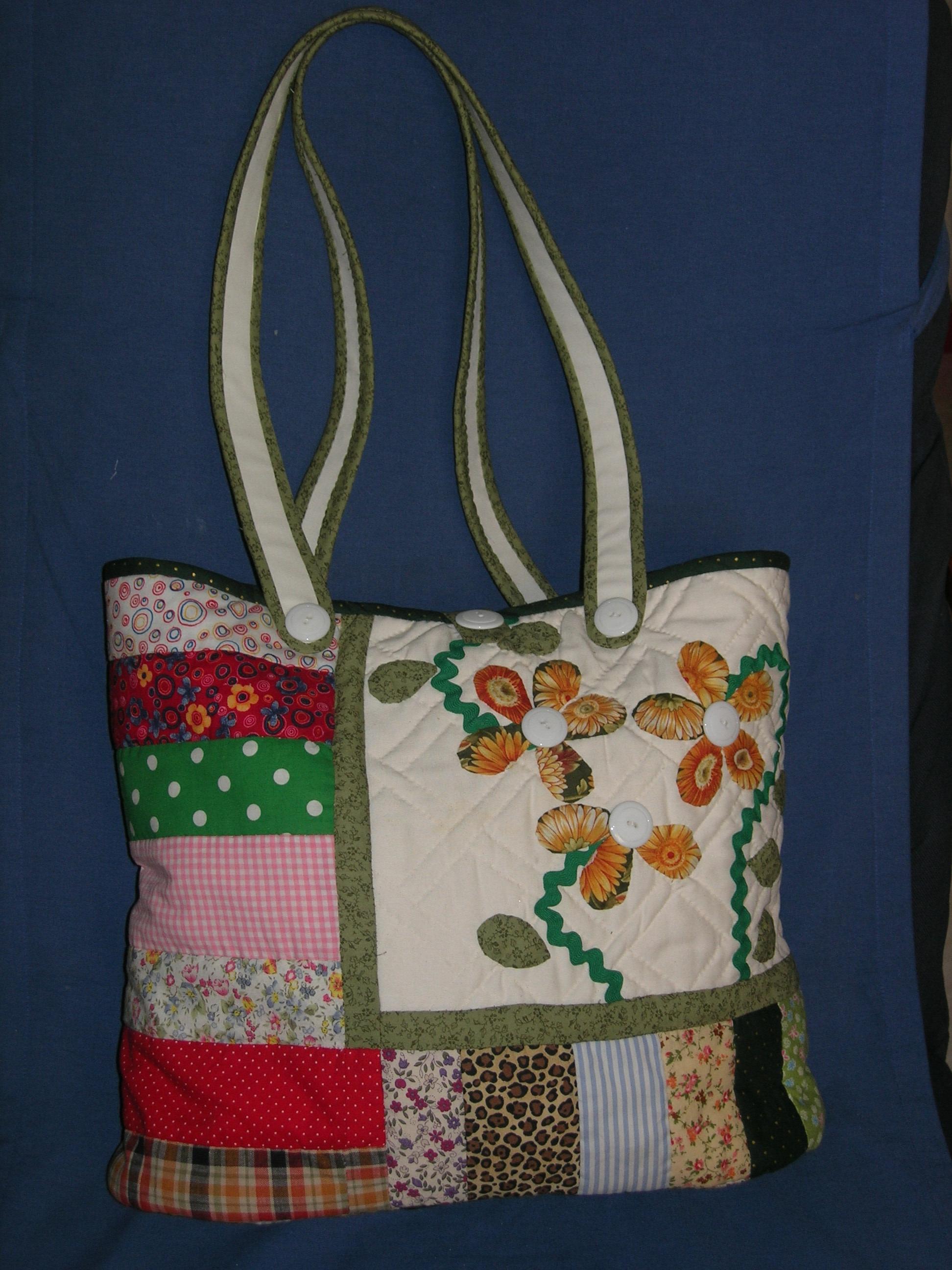 Bolso tijeras y cuchara - Manualidades patchwork bolsos ...