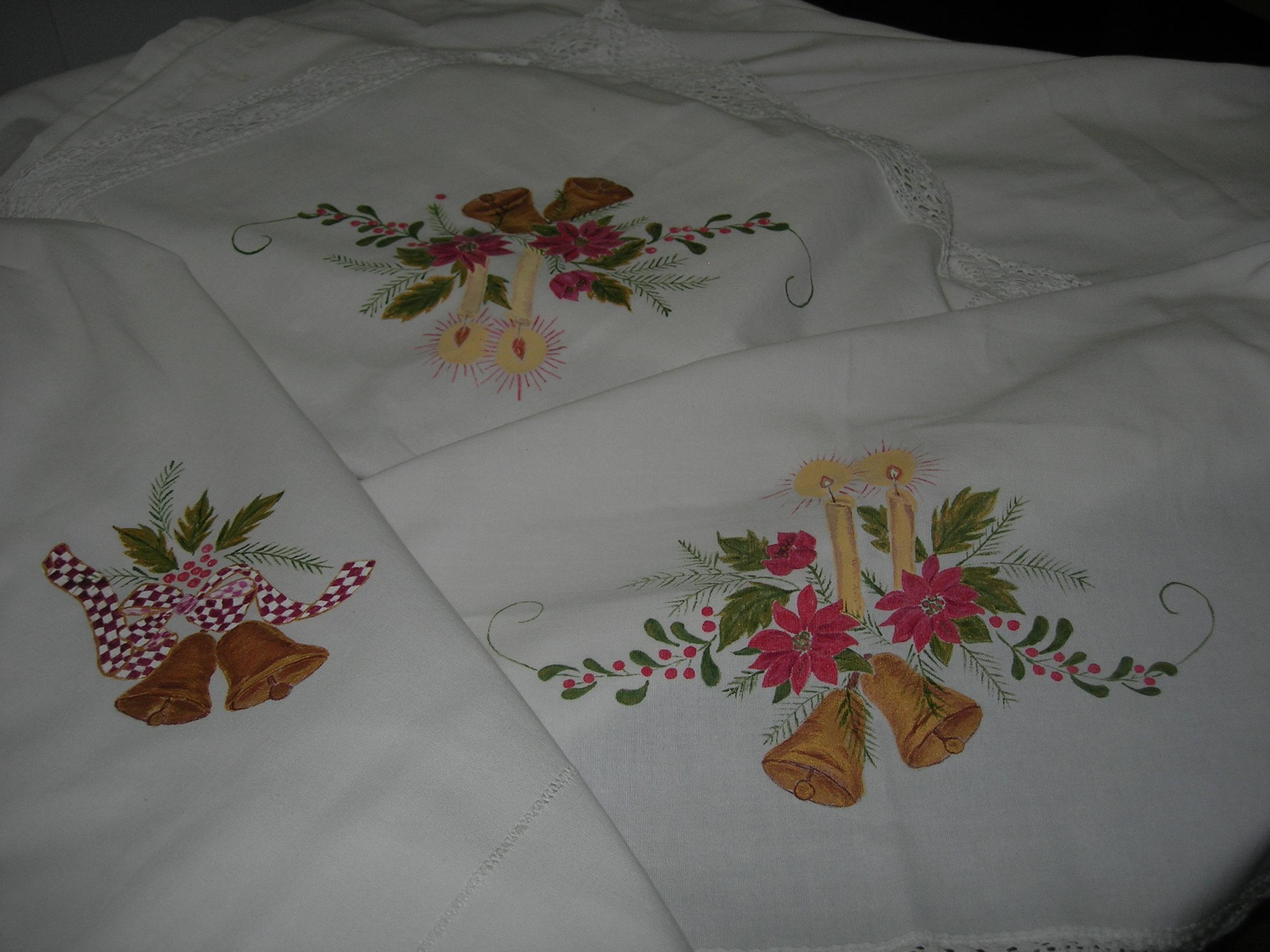 Dibujos para pintar un mantel de navidad dibujos para pintar - Pintura en tela motivos navidenos ...