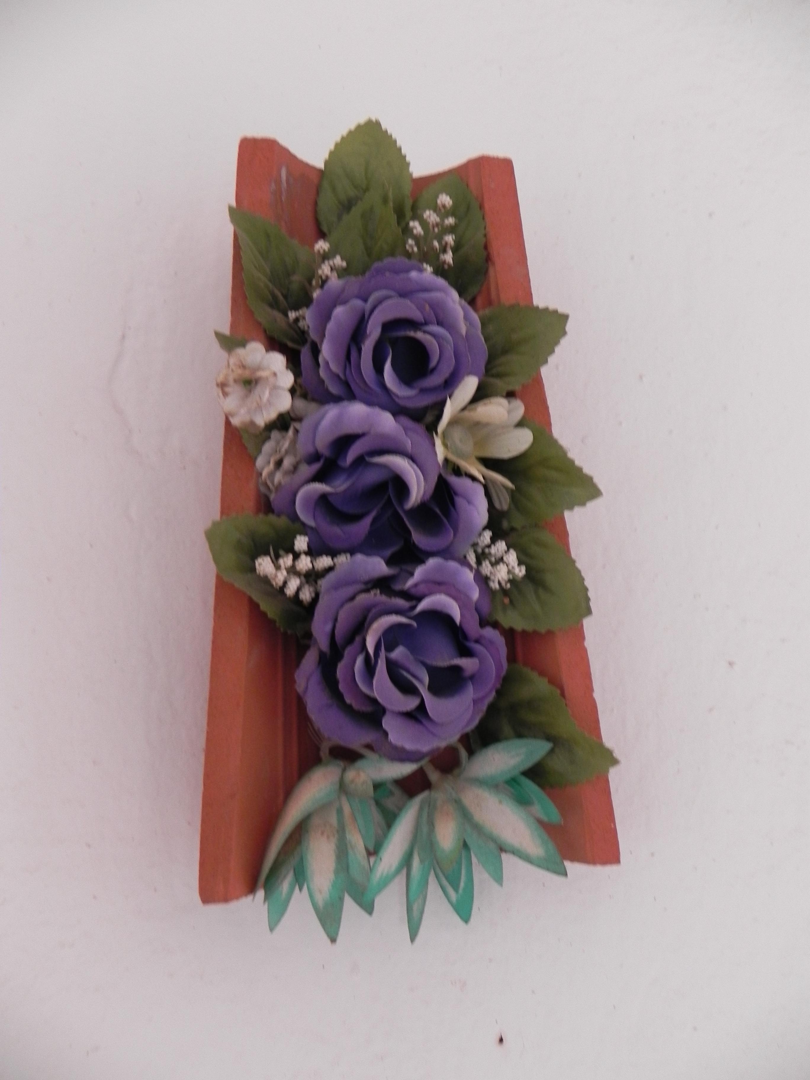 Tejas decoradas tijeras y cuchara - Pared decorada con fotos ...