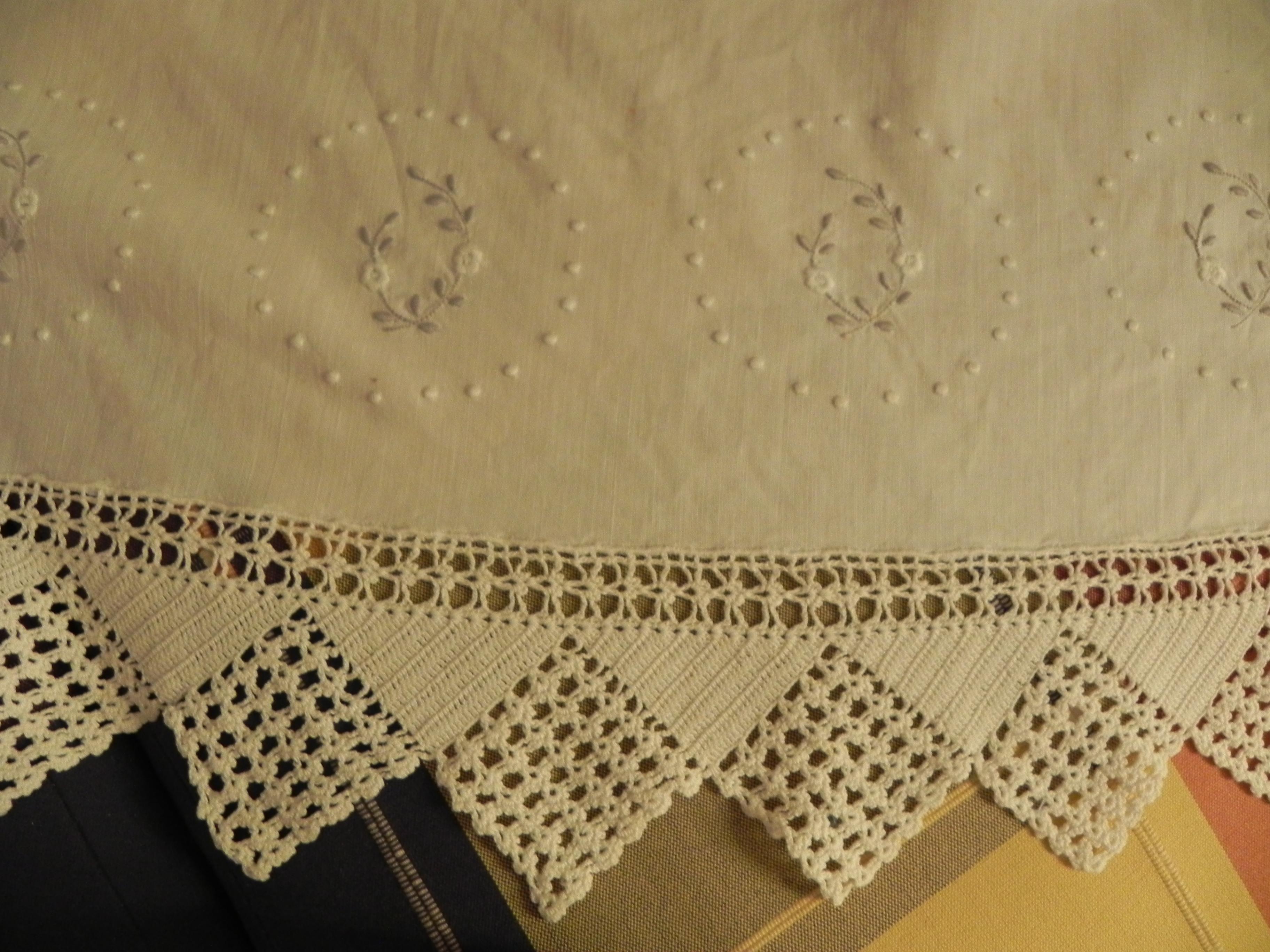 Ganchillo crochett juego de cama con puntilla tijeras - Hacer puntillas de ganchillo ...